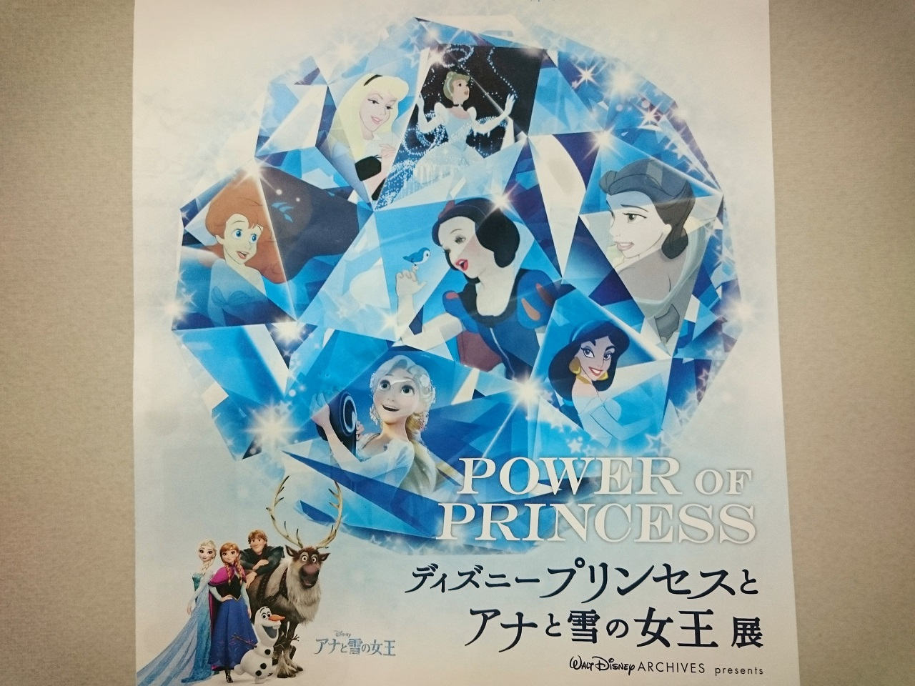 感想】ディズニープリンセスとアナと雪の女王展(アナ雪展)に行ってきた