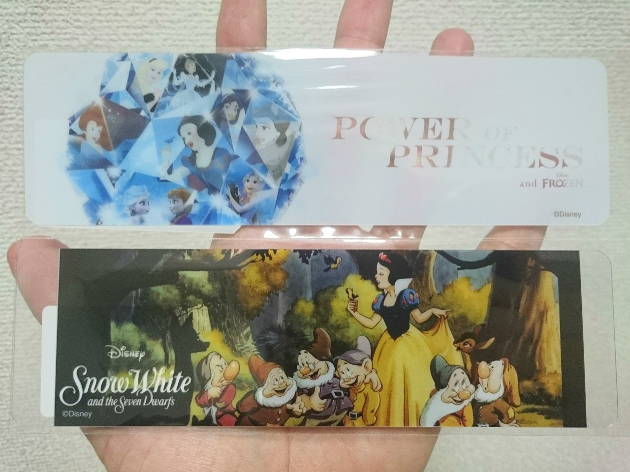 ディズニープリンセスとアナと雪の女王展_グッズ_栞