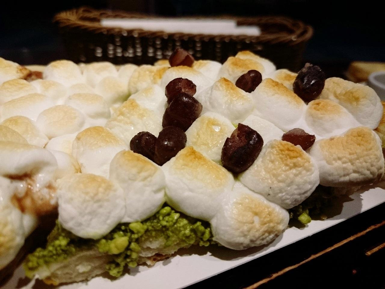 ホワイトチョコレートグリーンティーピザ
