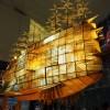 【感想】ジブリの大博覧会は夜がおすすめ! ライトアップされた飛行船が超綺麗!