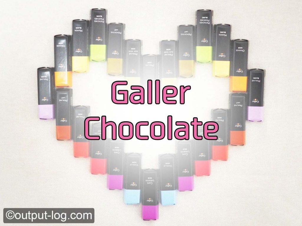 高級感のあるガレーのチョコレートに一目惚れ!